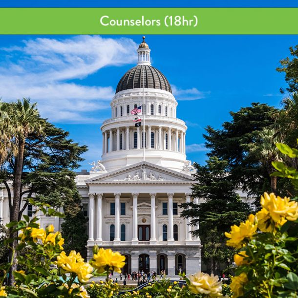 California Laws & Ethics for Counselors (18 hr Pre-Licensure Course)