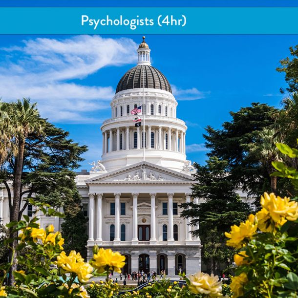 California Laws & Ethics for Psychologists (4 hr Course)