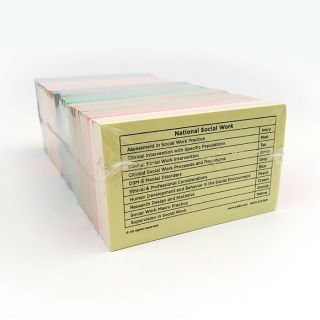 Social Work Color-Coded Flashcards